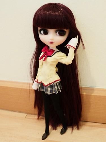 Layla in Akemi Homura Student Uniform