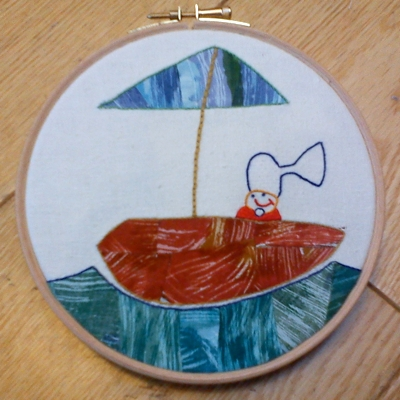 Boatman: drawn by the Oyster, stitched by Léan