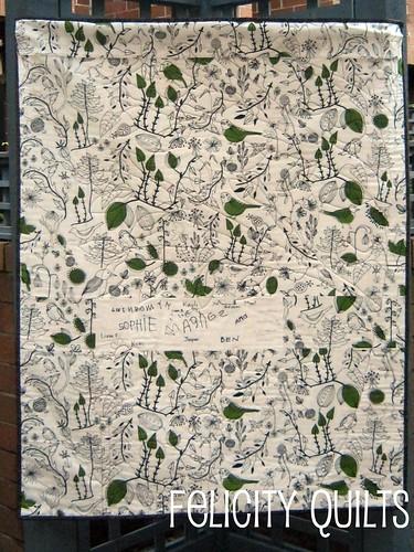 p.m. preschool quilt back