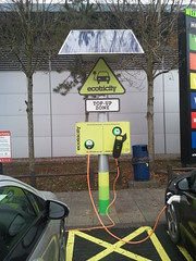 Ampera at a charge point in the UK
