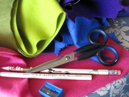 365 Craf Proyect: fieltro, tijeras, lápices...