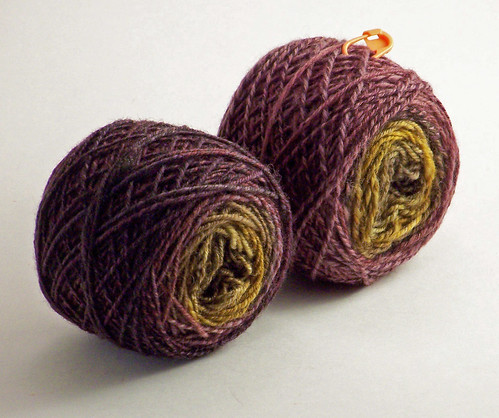 Southern Cross Fibre - Polwarth - Autumn Leaves - first 2 3-plies-wound