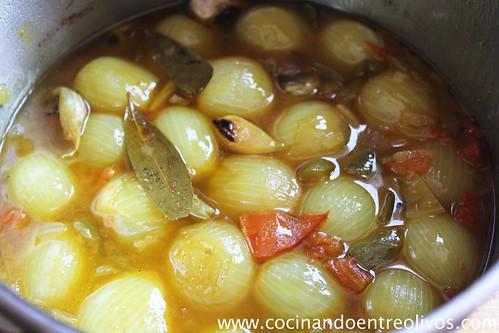 Cebollitas guisadas en vinagre (10)