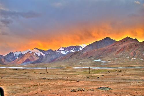 sunset tajikistan gbao