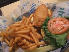 Hook Shot Cod sandwich with fries