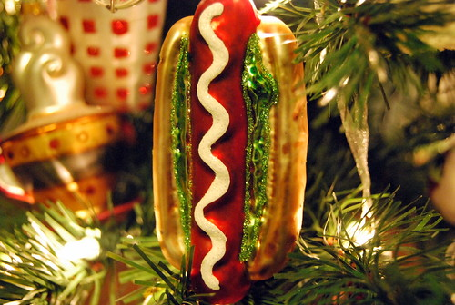 Hot dog ornament