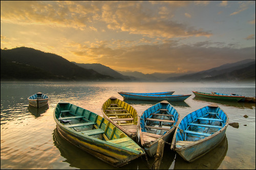 Fewa Lake Sunset, Pokhara, Nepal