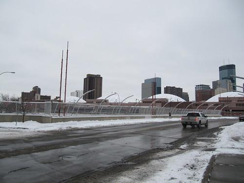 Frank Lloyd Wright Inspired Bridge on 3rd Ave over I-94