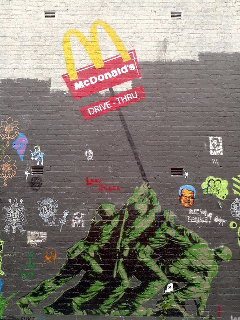 Street Art - Anti Military Industrial Complex