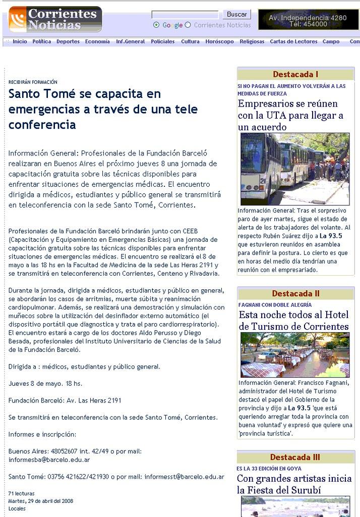 Site Corrientes Noticias 29-04-08