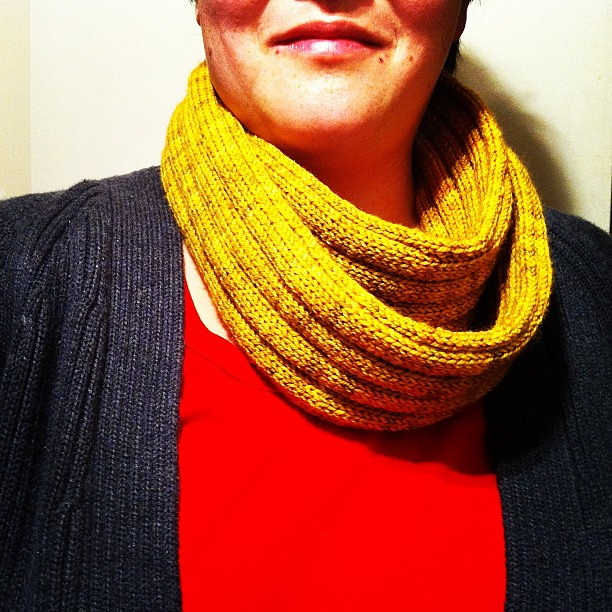A bit of Madeline Tosh Pashmina around the neck is a good thing.