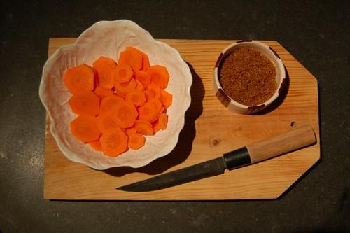 cenoura + açúcar
