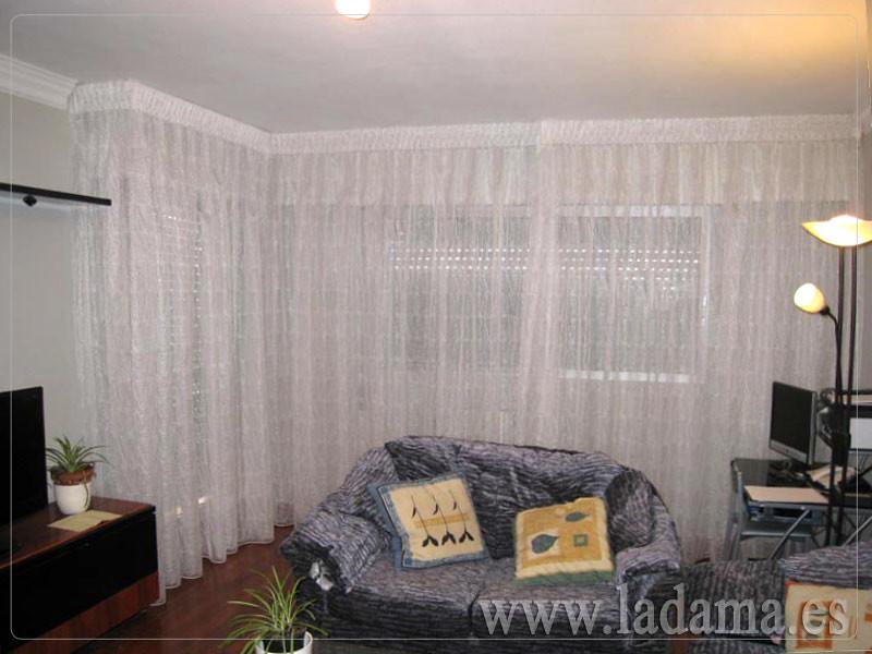 Fotograf as de cortinas en salones cl sicos la dama - Cortinas para miradores ...