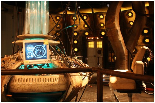 TARDIS console room at the Doctor Who Experience