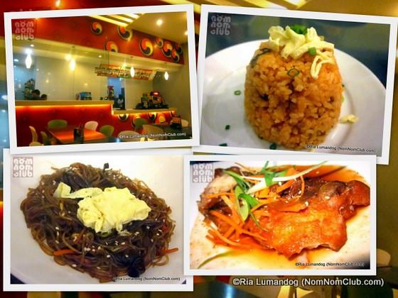 Korean Cuisines: Chap Chae (LL), Bokkumbop (UR), & Tomi-Chim (LR)