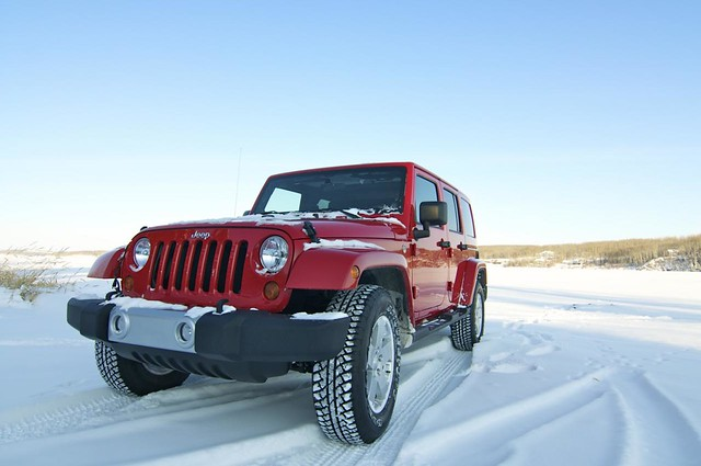 Jeep on Ice