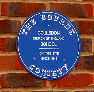 Blue plaque № 8305 - Coulsdon Church of England School on this site since 1845