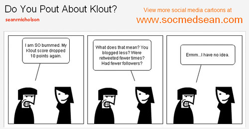 Social Media Cartoon - Do You Pout About Klout?