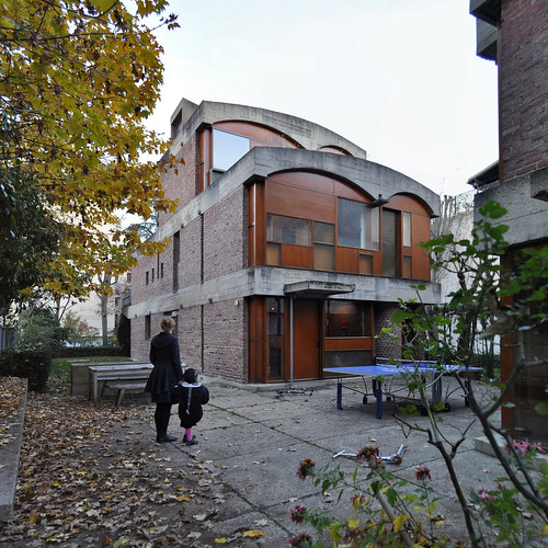 le corbusier, maisons jaoul, neuilly-sur-seine, paris, france, 1951-1955. house B