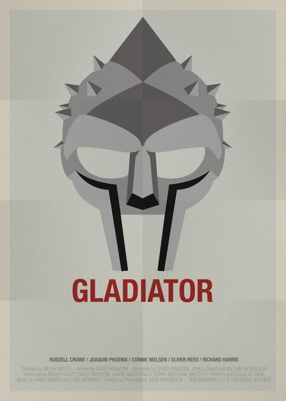 Máscaras e seus filmes , Gladiador, máscara