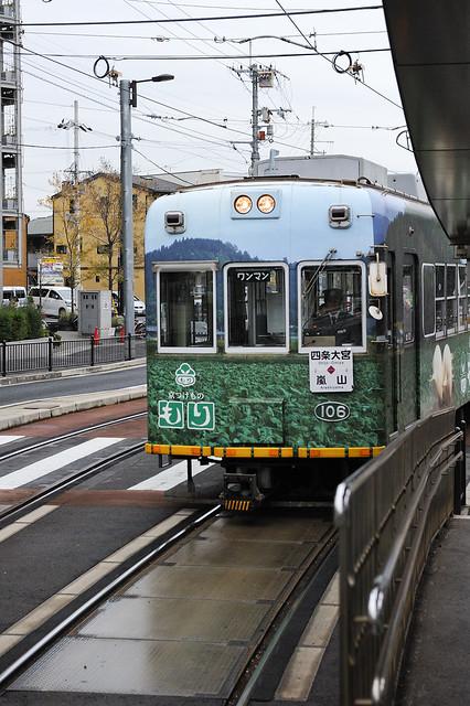 京都唯一路面電車:嵐電(京福電鉄)