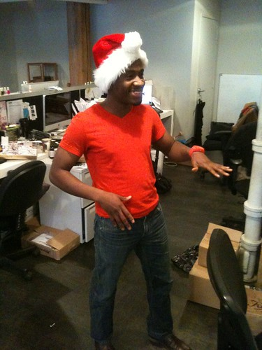 Andre in a Santa hat!