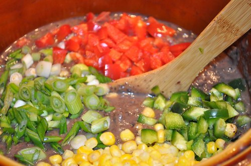 black bean soup with pork & veggies 28