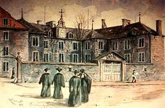 Vieux-Montréal, vers 1888. Le Vieux Séminaire, rue Notre-Dame.
