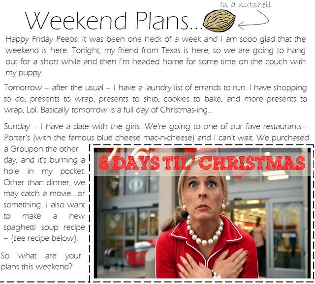 weekend plans 12.16.11