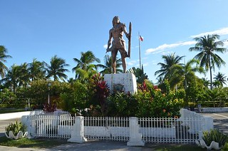 Lapulapu shrine close to Cebu City in Philippines