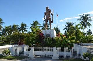 Lapulapu shrine close to Cebu City in Philippines