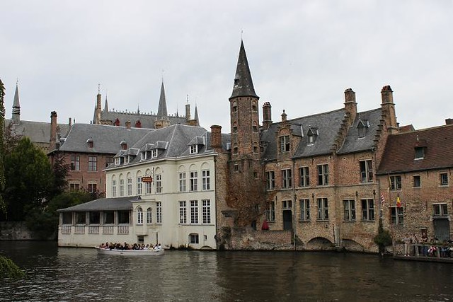 view from quai on boat and buildings