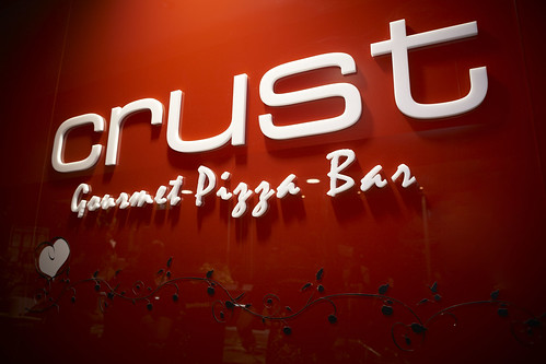 Crust Gourmet Pizza - Logo Wall