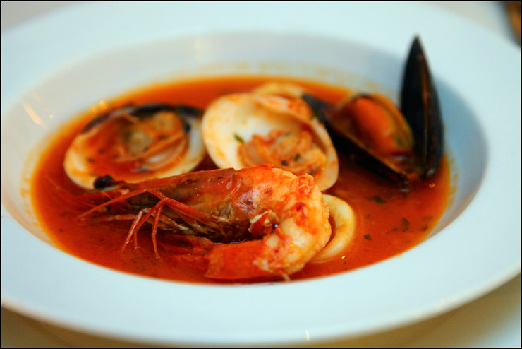 Opus Bistro seafood-soup