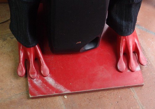 Red Alien mannequin feet