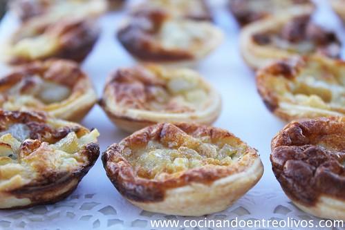 Miniquiches de pers y gorgonzola (6)