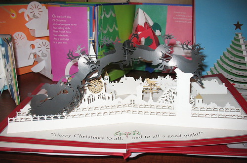 The Night Before Christmas - paper cut & pop-up