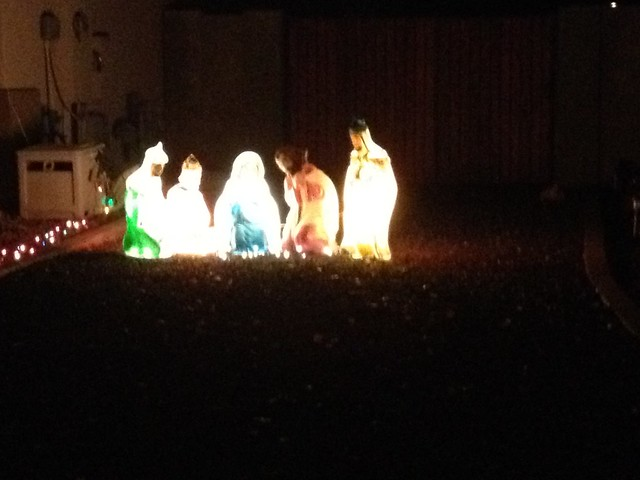 Outdoor christmas decorations nativity scene flickr for Outside christmas scenes