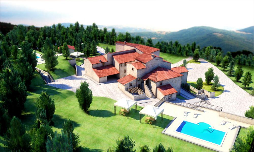 Val di Vico's villa, Italy   Render