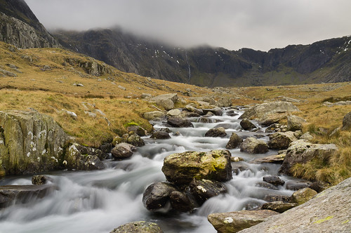 A wet day in Cwm Idwal