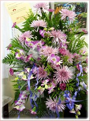 Funeral bouquet for my dearly beloved mother, consists of chrysanthemums, orchids, carnations and other fillers