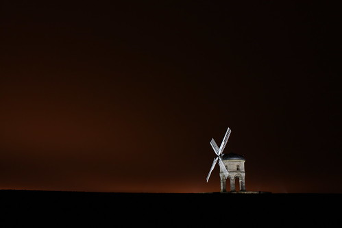 Red Sky At Night Makes Windmill A superb Sight