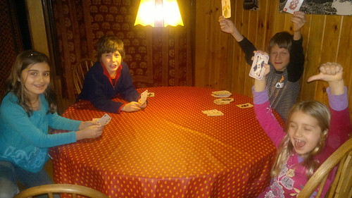 Jeu de cartes au chalet by ngoldapple