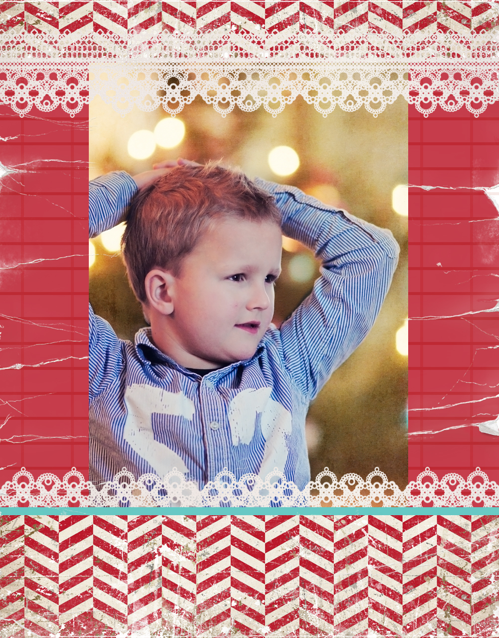 x-mas blog photo template - freebie