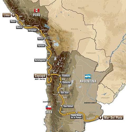 Dakar 2012 Recorrido