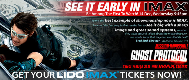 Mission: Impossible - Ghost Protocol @ Shaw's IMAX theatre