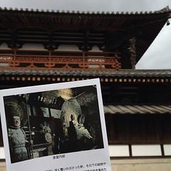 法隆寺金堂の釈迦如来像、想像してたのよりすごく小さくてびっくりした。四天王(白鳳時代)が京都で見たのと全然違った!服をきっちり着てるしポーズも表情もおとなしいし、乗ってる邪鬼がかわいい。