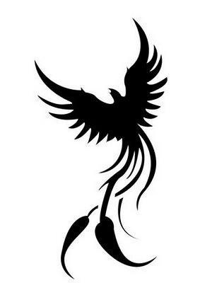 Black And White Phoenix Tattoo Designs2 Art Denet Art Service And