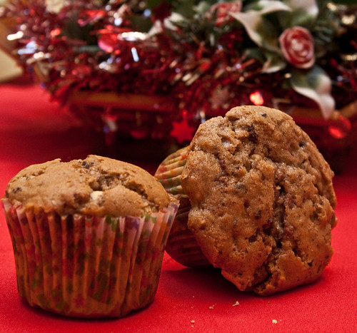Muffins de 3 chocolates y nueces (Three chocolates and nuts muffins)