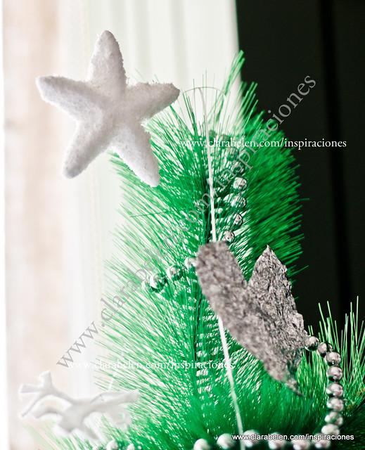 decoración navideña con papel albal